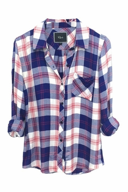 Hunter Plaid Shirt by Rails in Rosewood - Season 1 Episode 7