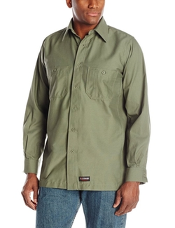 Long Sleeve Work Shirt by Wrangler Workwear in Everest