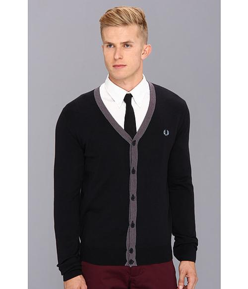 Fine Tipped Cardigan by Fred Perry in Dumb and Dumber To