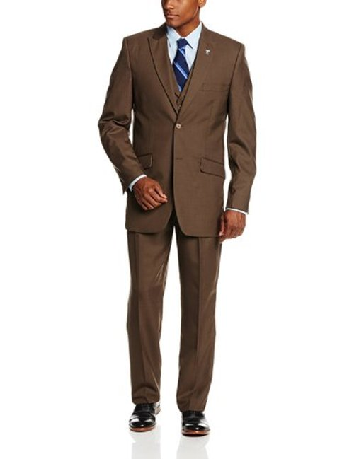 Men's Mart Vested 3 Piece Suit by Stacy Adams in Black or White