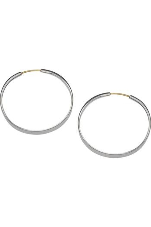 Silver Forged Hoop Earrings by Ed Levin Jewelry in Before I Wake