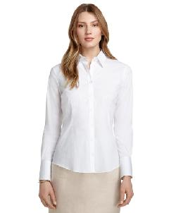 Tailored Fit Dress Shirt with Glass Buttons by Brooks Brothers in Vampire Academy