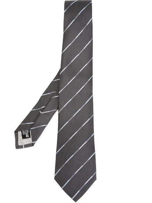 Striped Tie by Armani Collezioni in Elementary - Season 4 Episode 8