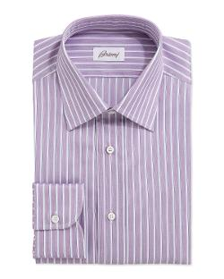 Track-Stripe Poplin Dress Shir by Brioni in Million Dollar Arm