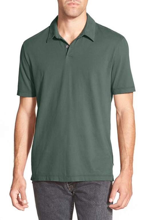 Trim Fit Sueded Jersey Polo by James Perse in Captain America: Civil War