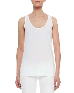 Scoop-Neck Cotton Tank Top by Johnny Was Collection in Me and Earl and the Dying Girl
