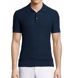 Textured Linen-Blend Short-Sleeve Polo Shirt by Michael Kors in Lethal Weapon