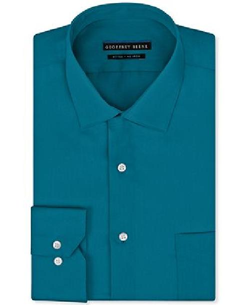 No Iron Fitted Stretch Sateen Solid Dress Shirt by Geoffrey Beene in The Great Gatsby