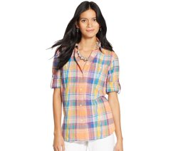 Long Sleeves Plaid Shirt by Lauren Ralph Lauren in Pitch Perfect 2