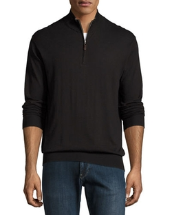 Crown Soft Quarter-Zip Pullover Sweater by Peter Millar in House of Cards