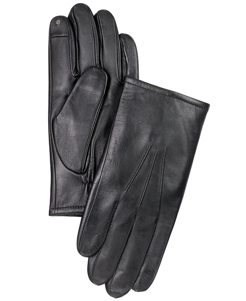 Leather Touchscreen Gloves by Club Room in Point Break