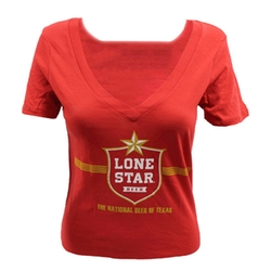 V-Neck T-Shirt by Lone Star in Roadies