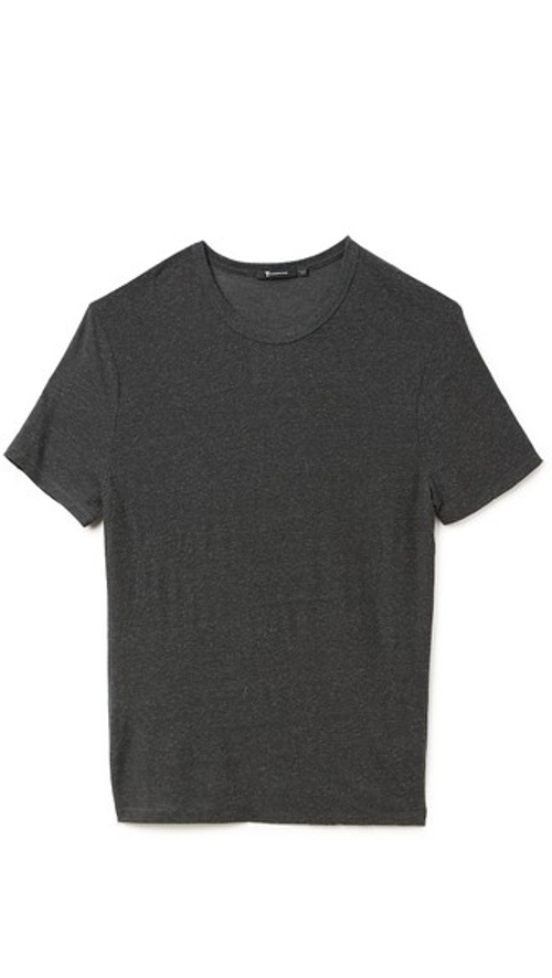 Slub Crew Neck T-Shirt by T by Alexander Wang in Cut Bank