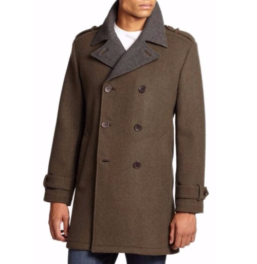 Wool Double-Breasted Coat by Cole Haan  in Live By Night