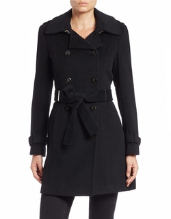 Wool-Blend Trench Coat by Calvin Klein in How To Be Single