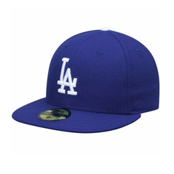 Los Angeles Dodgers Game Performance Fitted Hat by New Era in Rob & Chyna