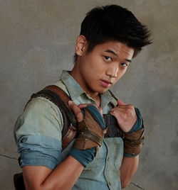 Custom Made Leather Wrist Wrap (Minho) by Christine Bieselin Clark and Simonetta Mariano (Costume Designers) in The Maze Runner