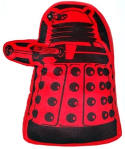 Doctor Who Dalek Shaped Cushion by Lady Sandra in The Big Bang Theory