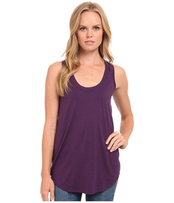 Lightweight Viscose Long Tank by Three Dots in Quantico