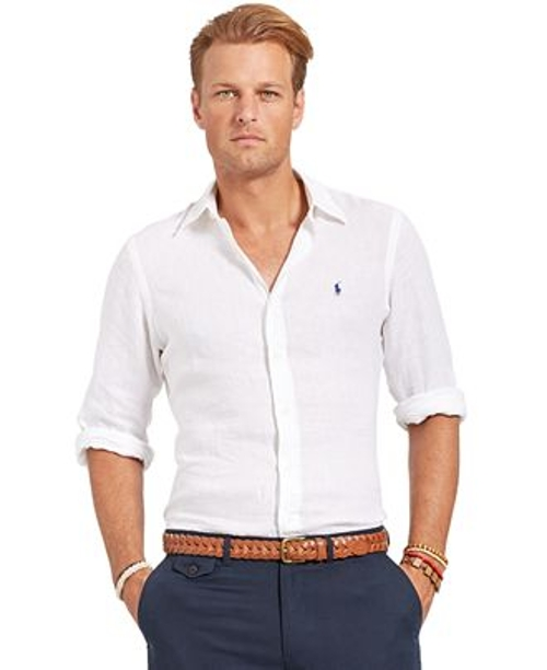 Long Sleeve Linen Shirt by Polo Ralph Lauren in The Devil Wears Prada