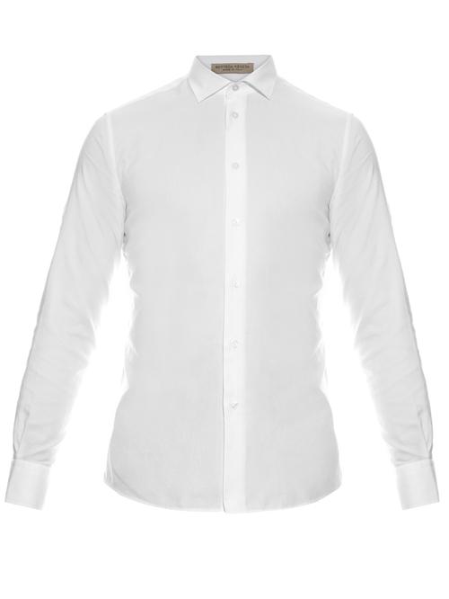 Napoli Button-Cuff Cotton Shirt by Bottega Veneta in Demolition