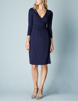 Elena Fixed Wrap Dress by Boden in The Purge: Election Year