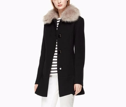 On Pointe Faux Fur Collar Coat by Kate Spade in A Bad Moms Christmas