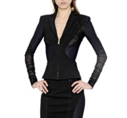 Mesh & Stretch Jersey Jacket by Versace in Power
