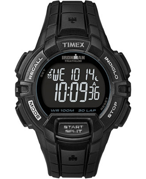 Digital Ironman Black Resin Strap Watch by Timex in Cut Bank