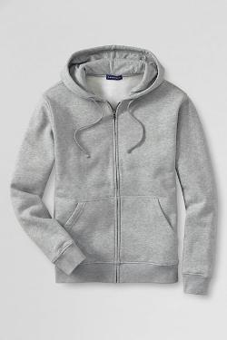 School Uniform Big Long Sleeve Full-Zip Hoodie Sweatshirt by Lands' End in The Purge: Anarchy