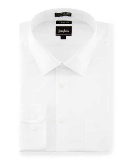 No-Iron Trim-Fit Dress Shirt by Neiman Marcus in Neighbors