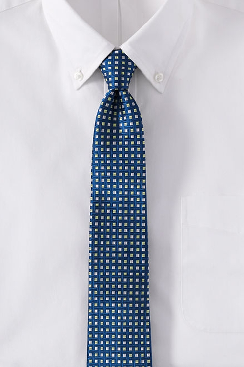 Silk Square Neat Tie by Lands' End in Modern Family - Season 7 Episode 20