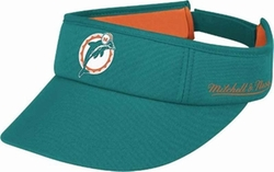 Miami Dolphins Throwback Adjustable Summer Visor Hat by Mitchell & Ness in Ballers