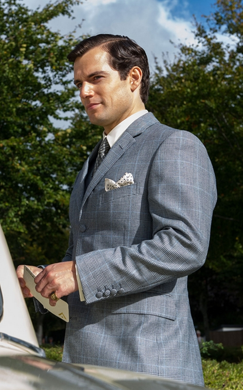 Made to Measure Glen Plaid Three-Piece Suit by Timothy Everest in The Man from U.N.C.L.E.