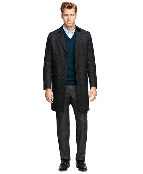 Saxxon Wool Chesterfield Overcoat by Brooks Brothers in Survivor