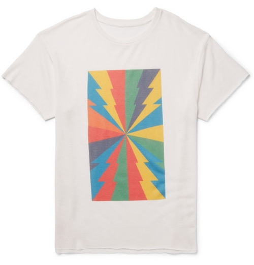 Printed Cashmere Silk-Blend T-Shirt by The Elder Statesman in Entourage