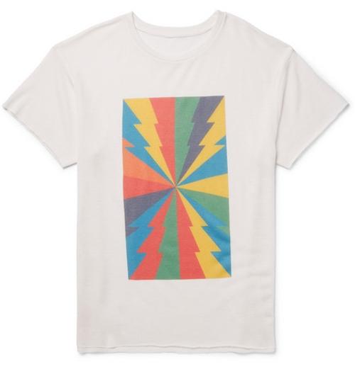 Printed Cashmere Silk-Blend T-Shirt by The Elder Statesman in Entourage