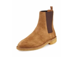 Nevada Suede Chelsea Boot by Saint Laurent in Empire