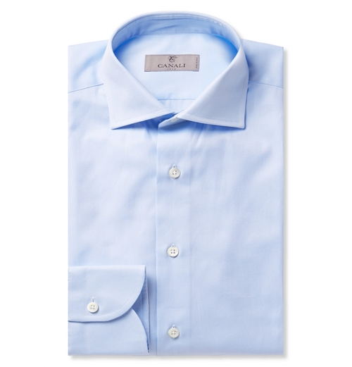 Light-Blue Cotton-Twill Shirt by Canali in Tomorrow Never Dies