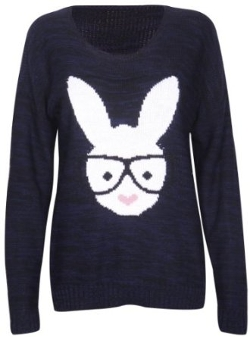 Women's Rabbit Knit Sweater Jumper Top by Purple Hanger in While We're Young