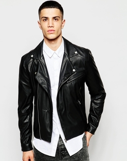 Faux Leather Biker Jacket by Asos in The Big Bang Theory