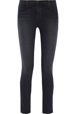 Mid-Rise Skinny Jeans by J Brand in Jessica Jones