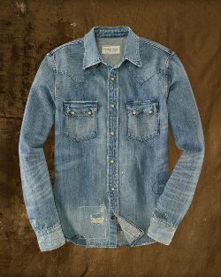 Denim Coulman Western Shirt by Ralph Lauren in Need for Speed