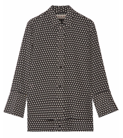Printed Silk-Crepe Blouse by Marni in Scandal