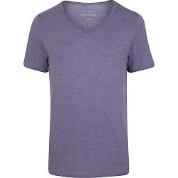 Purple Low Scoop Neck Short Sleeve T-Shirt by River Island in Savages