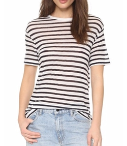 Striped Tee by T by Alexander Wang in Imaginary Mary