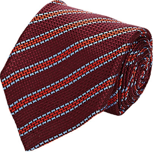 Diagonal-Striped Necktie by Kiton in The Boy
