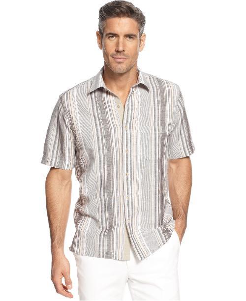 Island Striped Linen-Blend Shirt by Tasso Elba in Jersey Boys