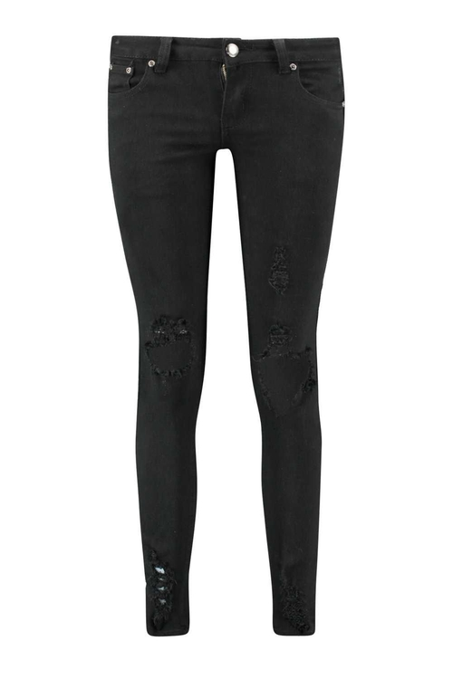 Louise Distressed Skinny Jeans by Boohoo Blue in Roadies - Season 1 Preview