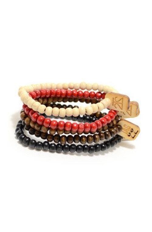 Bamboo Bracelets Set by Tag Twenty Two in Entourage